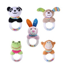 XCQGH Cartoon Animal Baby Rattle Toys Panda Bunny Rattle Mobile Bell Toy Infant Toddler Early Educat