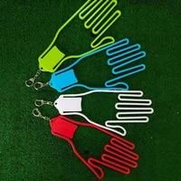 1 pcs golf glove holder with key chain plastic glove rack dryer hanger stretcher abs glove support frame for goalkeeper glove