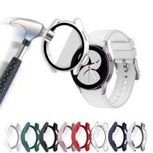 Verre + étui pour samsung Galaxy watch 4, accessoires PC tout autour, housse Anti-chute + protection d'écran, Galaxy watch 4 44mm 40mm