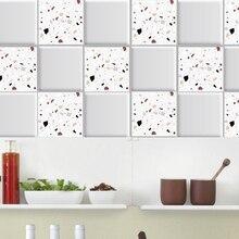 Autocollant mural de carreaux étanches   Autocollants de maison auto-adhésifs en marbre de conception moderne pour la décoration de carreaux de salle de bains et cuisine