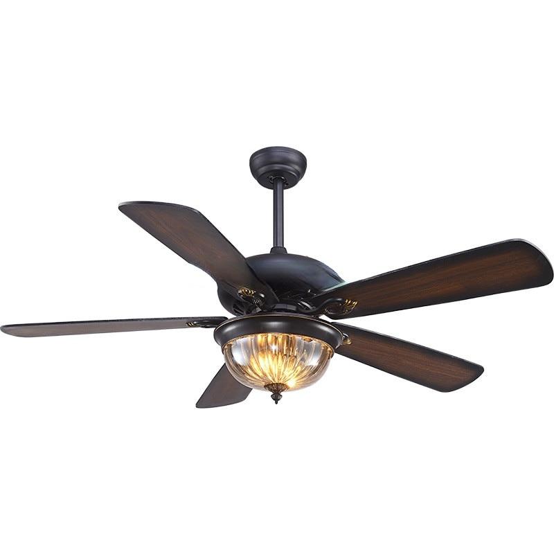 Ventilador de techo con Control remoto para el hogar... lampara de madera para oficina-comedor y... dormitorio y sala de estar