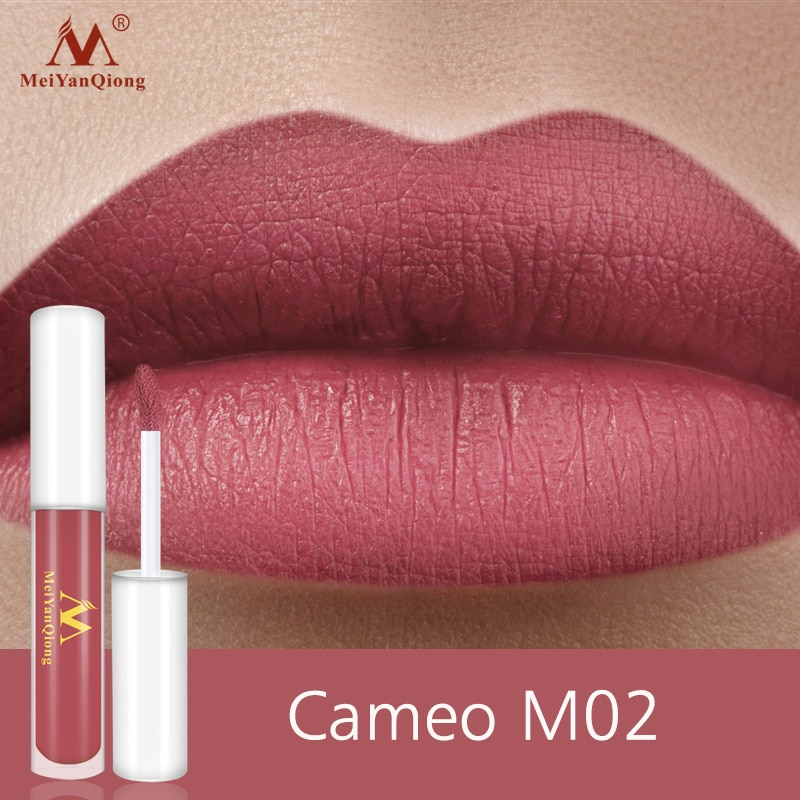2 Colors Lipstick Waterproof Long Lasting Lightweight Mental Beauty Lip Gloss Nude Glitter Lip Gloss Beauty Red Lip Tint New