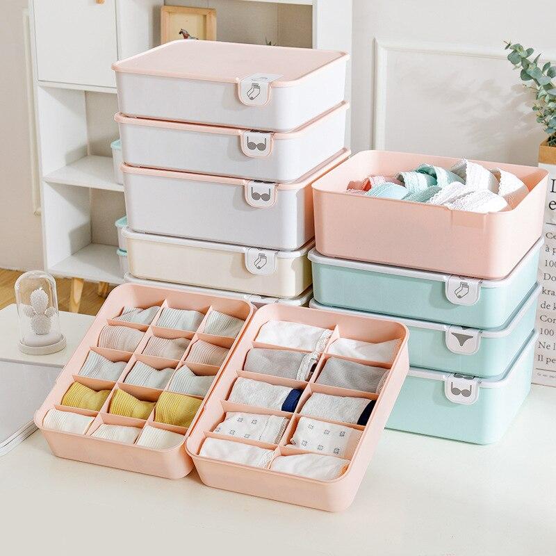 صندوق تخزين مع غطاء 1/10/15 شبكات المنزل خزانة درج خزانة منظم الحال بالنسبة الجوارب سراويل N2N006B32