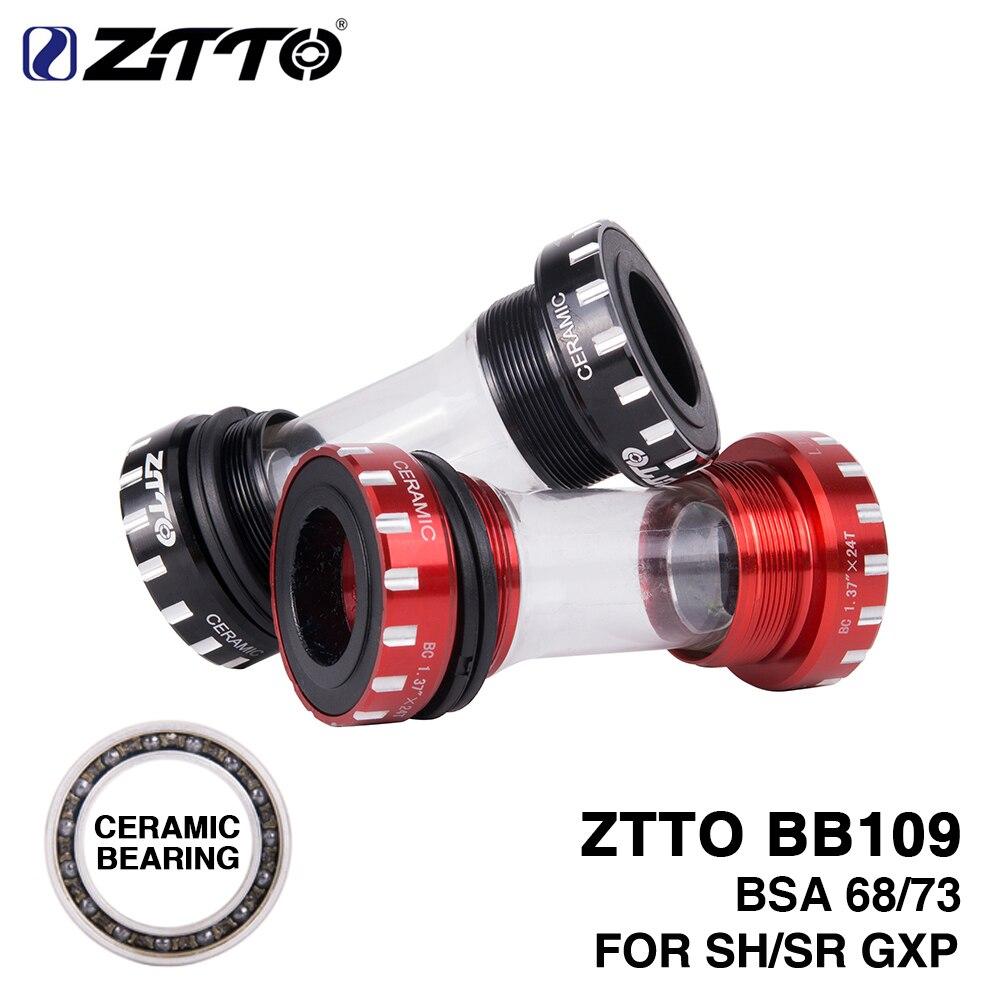 Suporte inferior cerâmica rolamento bola durabilidade lubrificação bsa68 bb109 quadro de bicicleta 68mm 73mm cárter 24mm 22mm suavemente rígida