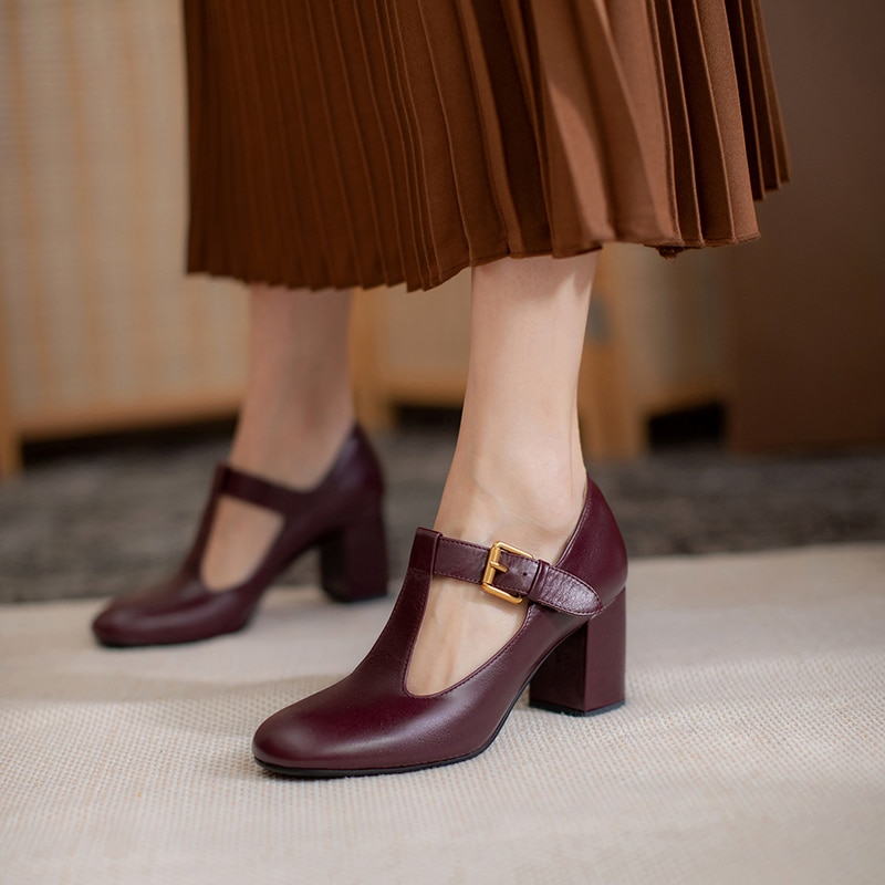 Женская обувь из натуральной кожи женские туфли-лодочки 22-24,5 см полые сезон весна-лето из воловьей кожи; Стелька из овчины обувь в стиле «Мэр...