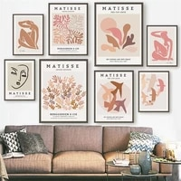 vintage abstract matisse sun girl bird nordic posters and prints wall art canvas painting wall pictures for living room decor