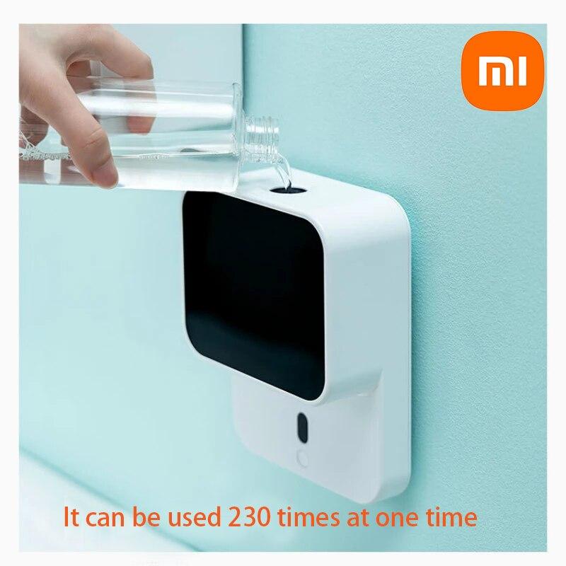 شاومي الصابون موزع الأشعة تحت الحمراء الذكية المطهر اليد 280 مللي. شاشة LED مثبتة على الحائط رغوة التعريفي التلقائي لغسل اليد