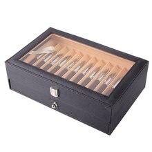 Porte-stylo en bois à 24 stylos   Fontaine, présentoir en bois, boîte de rangement, collection, boîte organisateur