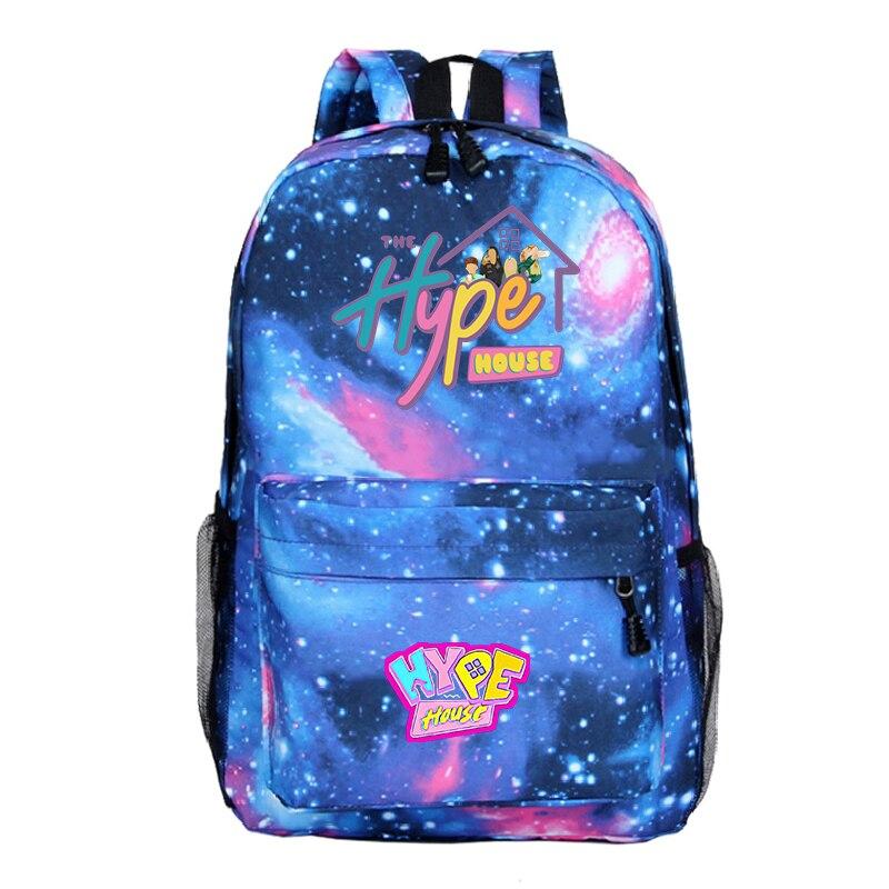 Nuevo patrón de la casa Hype Backback niños niñas bolsa de vuelta a la escuela adolescente bolsa de diario portátil mochila niños Hipster mochila