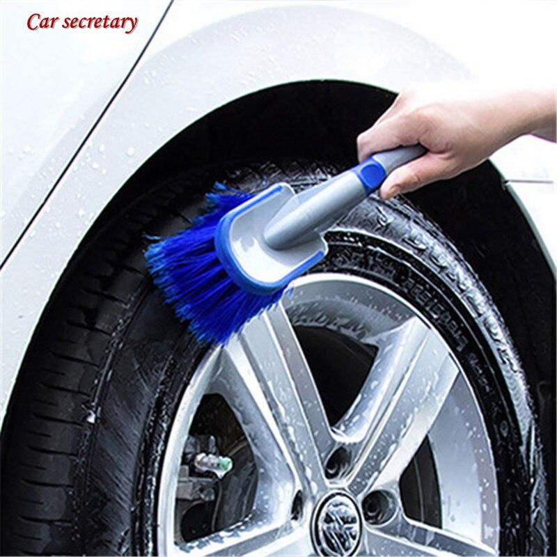 Щетка для мытья автомобильных колес с пластиковой ручкой, щетка для мытья автомобильных колес, щетка для мытья шин, щетка для чистки автомоб...