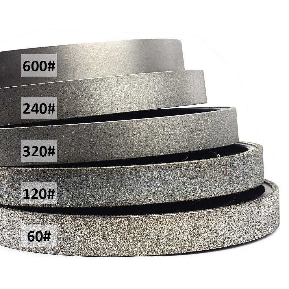 8 Inch 200mmx25mm Diamond Lapidary Jewelry Grinding Wheel Diamond Coated Soft Resin Grinding Wheels for Gem Glass Stone Jade
