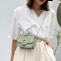 ladies one shoulder crossbody womens bag simple small square bag luxury armpit bag fashion handbag solid color chain tote bag