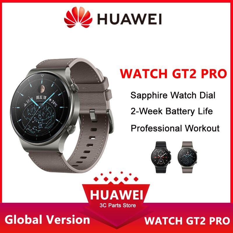 Huawei-ساعة متصلة GT2 Pro لهواتف Android و iOS ، إصدار عالمي ، GPS مدمج ، عمر بطارية 14 يومًا ، مقاومة للماء ، مراقب معدل ضربات القلب