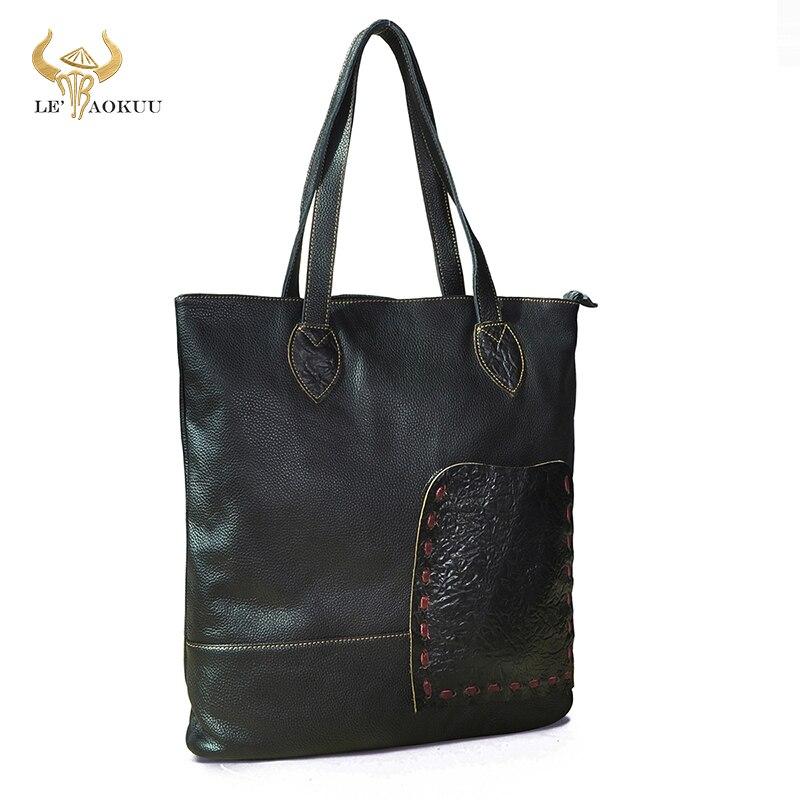Soft Quality Real LEATHER Famous Brand Luxury Ladies Large Shopping handbag Shoulder bag Women Desig