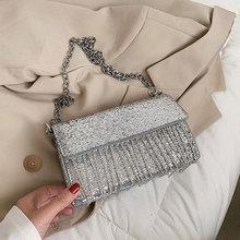 Tassel Crossbody Bags for Women Messenger Bags Sac A Main Luxury Women Handbags Solid Shoulder Bag F