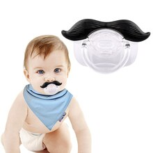 Baby Pacifier Safe Silicone Infant Nipple Soother Mustache Pacifier Joke Prank Toddler Nipple Teether Newborn Pacifier Clip Gift