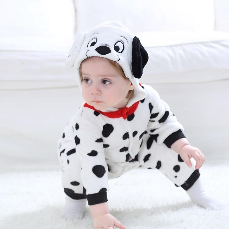 Dalmatians Cosplay Costume For Baby Child Winter Gift Animal Kigurumis Homewear Zipper Jumpsuit  Gir