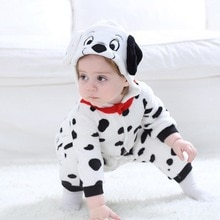 Dalmatians Cosplay Costume For Baby Child Winter Gift Animal Kigurumis Homewear Zipper Jumpsuit  Gir