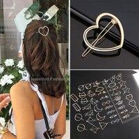 Модные металлические «любящее сердце» зажим для волос, элегантные круглые заколка для волос для женщин обувь для девочек красивые заколки ...