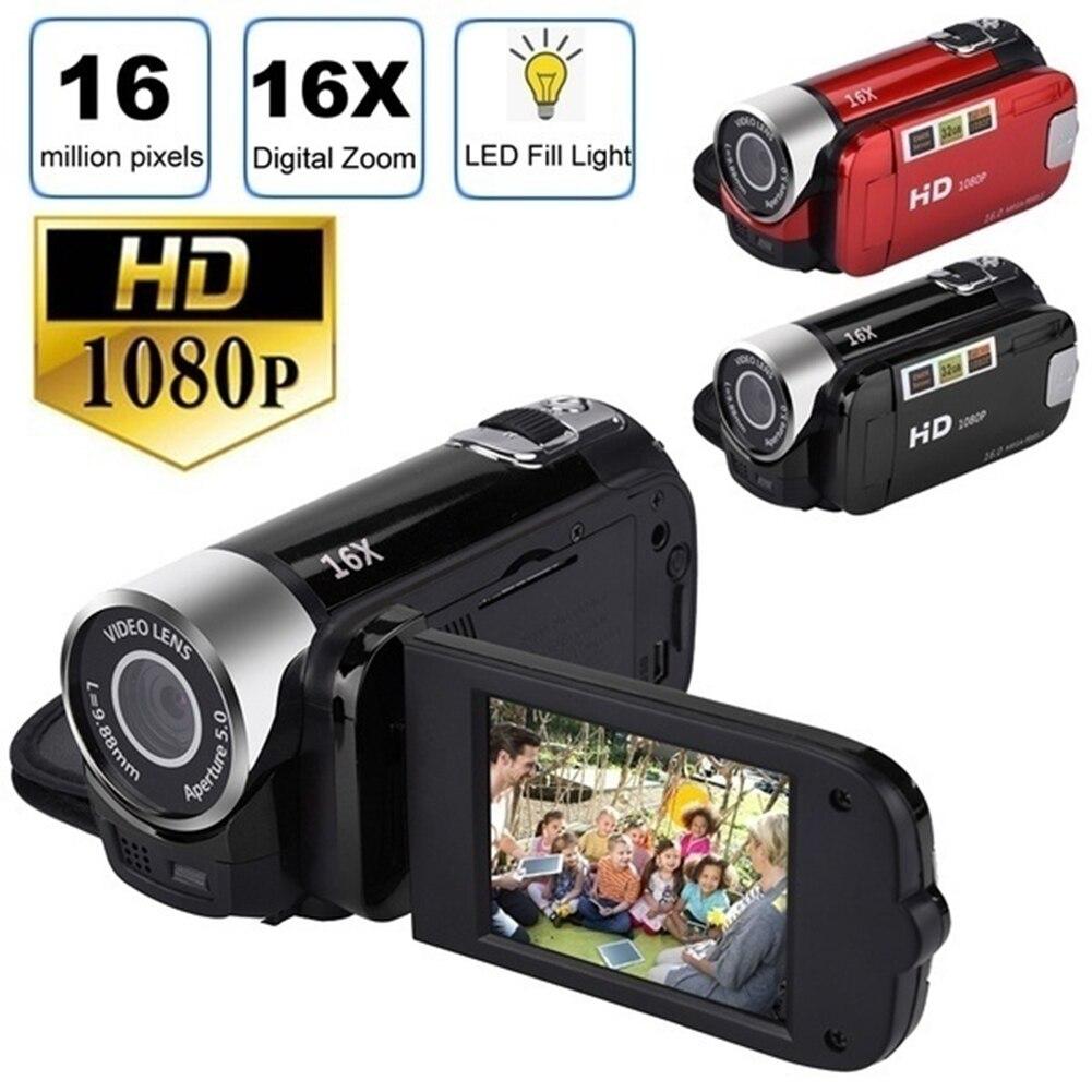 كاميرا فيديو رقمية DV HD 1080p 32GB ، كاميرا فيديو صغيرة ، تقريب رقمي 16X ، كاميرا فيديو محمولة للمنزل ، تصوير مدونة فيديو