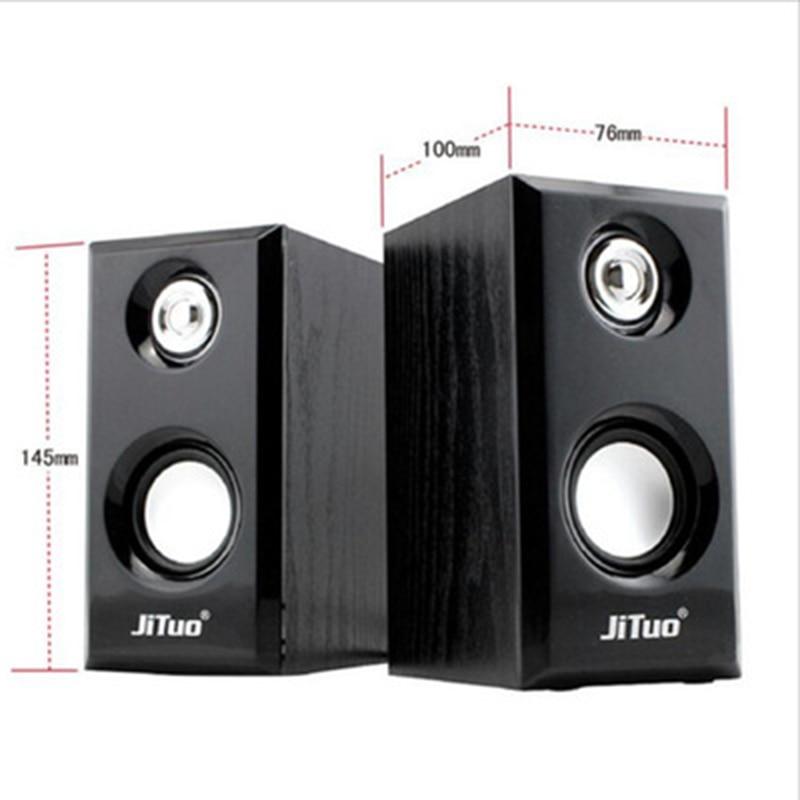 Wooden speaker 2.0 USB multimedia subwoofer portable speaker sound column acoustic system for deskto