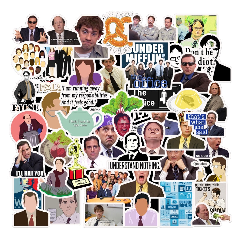 10/30/50pcs/pack Classic TV Show The Office Stickers For Motorcycle Notebook Computer Car DIY Children' Toys Guitar Refrigerator