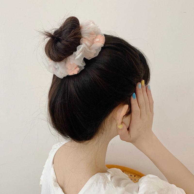 Slatki ženski mrežasti cvjetovi za vez, romantično ružičasto i - Pribor za odjeću - Foto 5