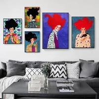nordic modern colorful characters style hand draw canvas painting poster print decor wall art pictures for living room bedroom