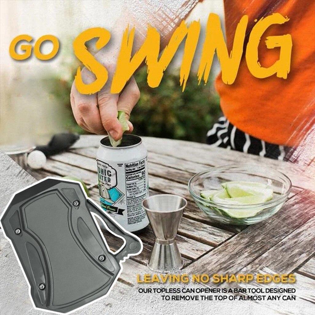 Go Swing Topless abrelatas Manual abrelatas abridor de botellas herramienta de cocina florero botella Gadget portátil Bier cerveza abrelatas Dropship
