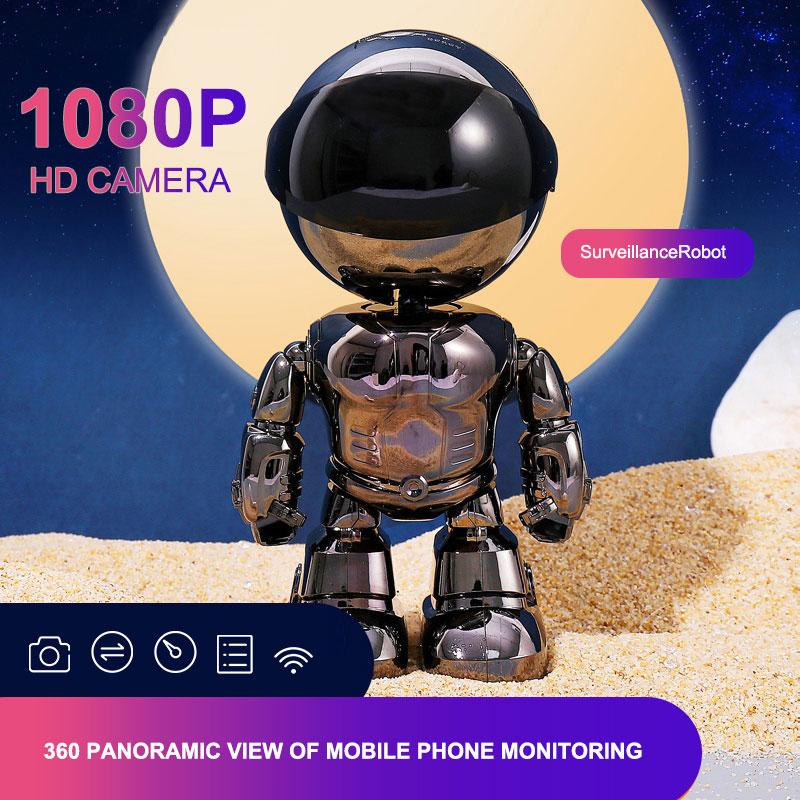 2MP 1080دكتوراه واي فاي كاميرا IP PTZ 25fps اتجاهين صوت 355 درجة تدوير السيارات تتبع شبكة Gimbal الأمن مراقبة كاميرا روبوت