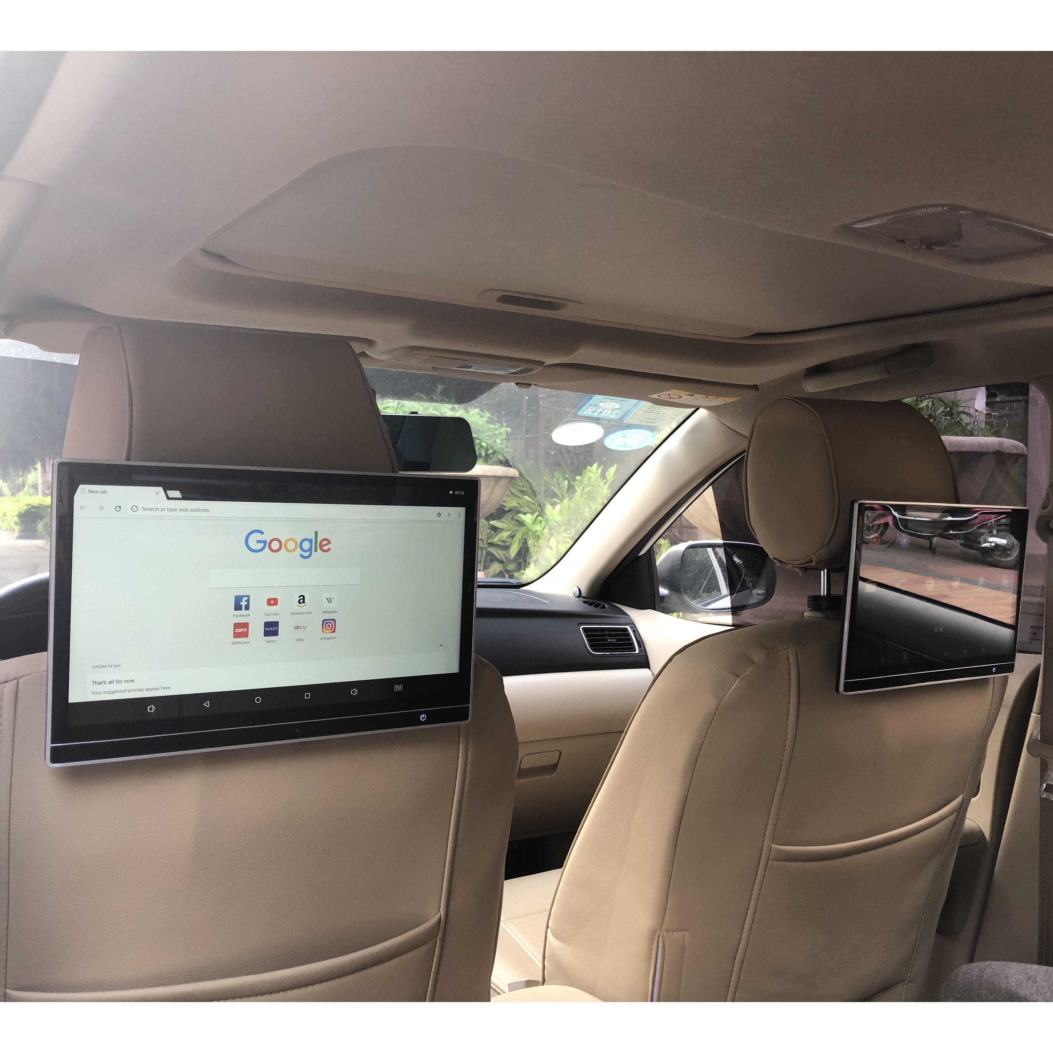 "12,5 ""Pantalla HD Monitor para reposacabezas de coche reproductor de vídeo DVD Android 8,1 RAM 2G + 32GB ROM con juego de Control remoto HDMI IR AV FM USB"