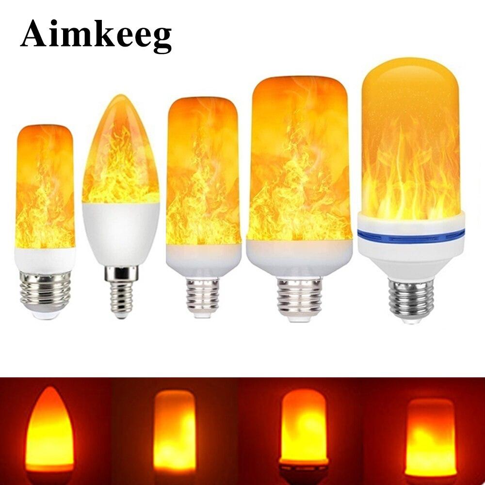 LED E27 Flame Bulb Fire E14 lamp Corn Bulb Flickering LED Light Dynamic Flame Effect  3W 5W 7W 9W 11