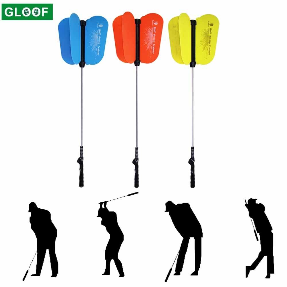 1Set Golf Power Resistance Swing Fan Golf Club Swing Trainer Power Resistance Practice Golf Swing Training Aid Swing Trainer