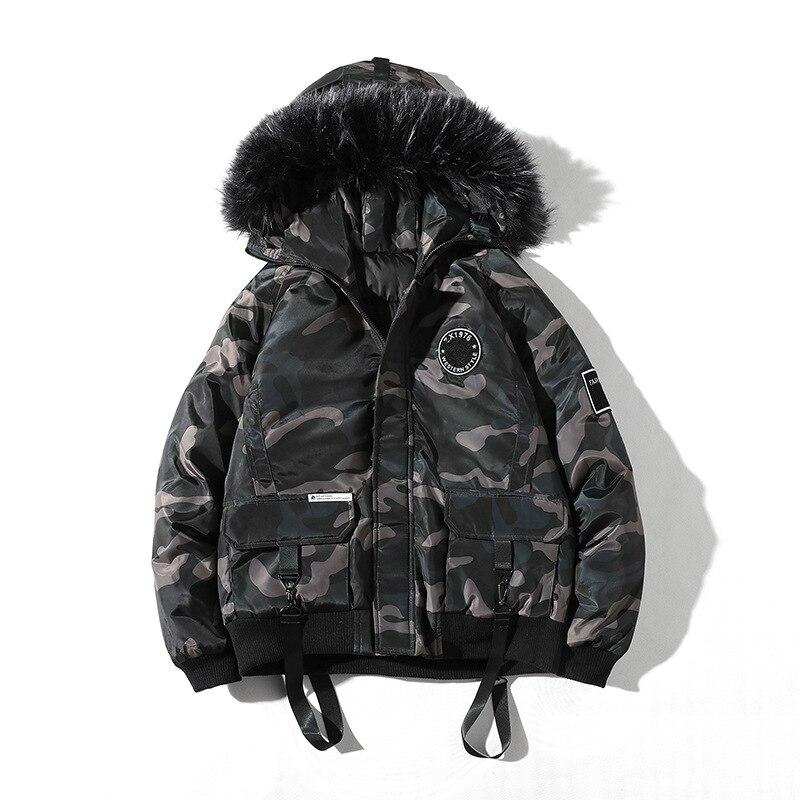 Мужское пуховое хлопковое пальто, свободное стеганое Мужское пальто, мужские парки, мужское зимнее пальто с капюшоном, хлопковый костюм, му...