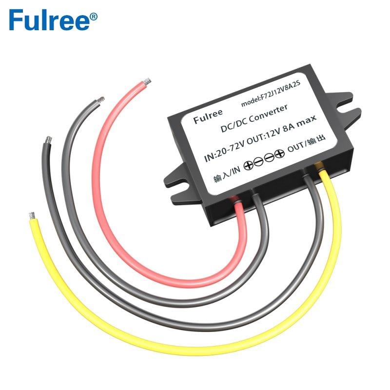 Convertidor reductor CC 24V CC 36V 48V 60V a 12V 1A 2A 3A 5A 8A impermeable 20-72V convertir a 12VDC Buck fuente de alimentación del coche