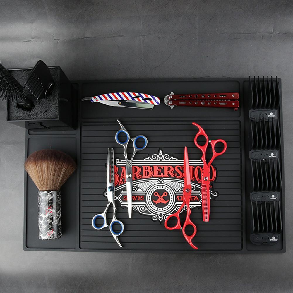 Hair Salon Antiskid Pad Hairdresser Storage Mat Hairdressing Hairdresser Accessories Non-slip Cushion Pad for Hair Care Styling