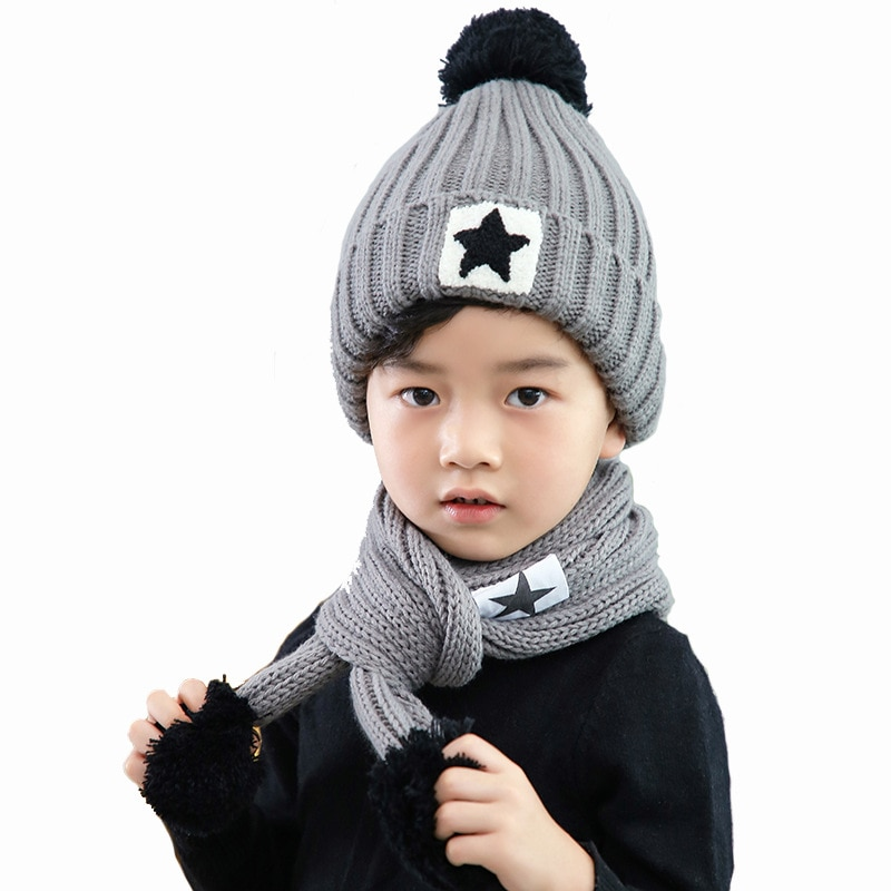 4-12 Years old Toddler Boys Girls Beanie Hats Knitted Warm Caps for Kids Autumn Winter Girls Hats for Toddler Boys Girls gorro