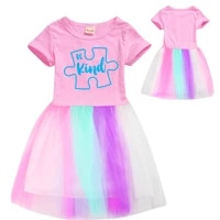be kind cartoon cute kids flower girl dresses toddler girl fall clothes 2020 toddler girl christmas outfits mommy and me dress