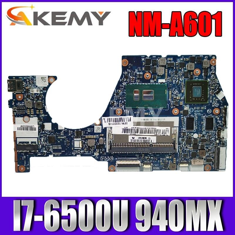 اللوحة الأم للكمبيوتر المحمول AKemy NM-A601 لأجهزة Lenovo YOGA 700-14ISK اللوحة الرئيسية الأصلية I7-6500U 940MX 5B20K41652