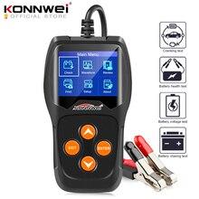 Probador de batería de coche KONNWEI KW600 12 V 100 a 2000CCA 12 voltios herramientas de batería para el diagnóstico de carga rápida del coche