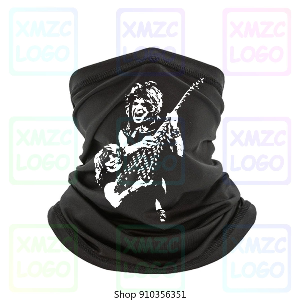 Ozzy Osbourne, Randy Rhoads, Bandana negra tributo 2012, para hombre, diadema, pañuelo, pañuelo, calentador de cuello, para mujer y hombre