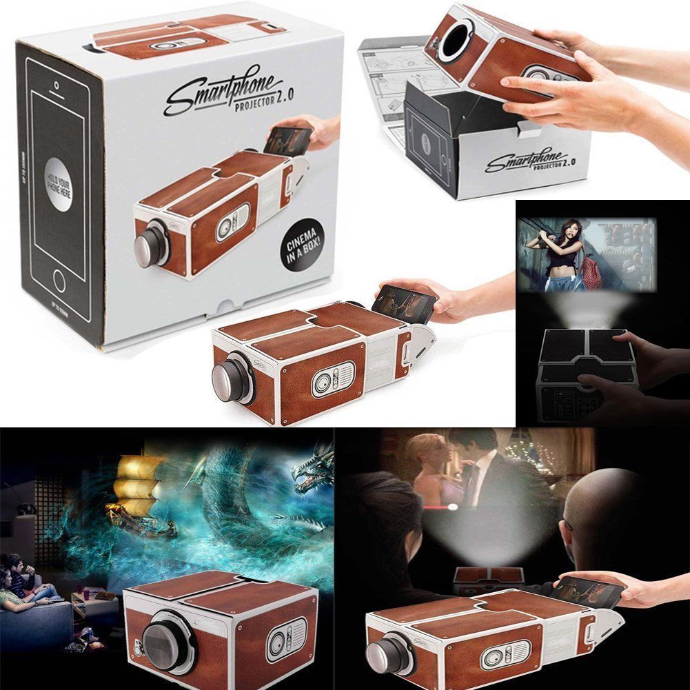 V2.0 Smartphone Projector DIY Mobile Phone Home Theater Cinema Video For iPhone Home Theatre