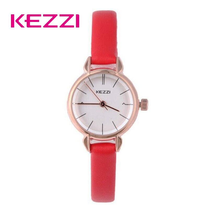 كيزي السيدات فستان أحمر ساعة للنساء جلدية مقاوم للماء ساعات كوارتز أنثى فتاة بسيطة الهاتفي ساعة اليد 2019 جديد