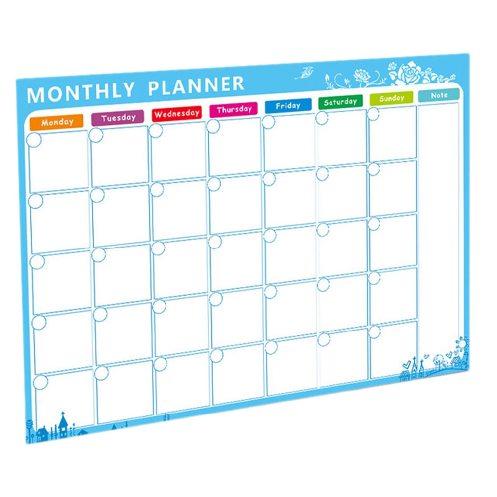 Magnetic Whiteboard Magnets Fridge Sticker To-Do List Monthly Daily Planner Message Board Soft Calendar Whiteboard