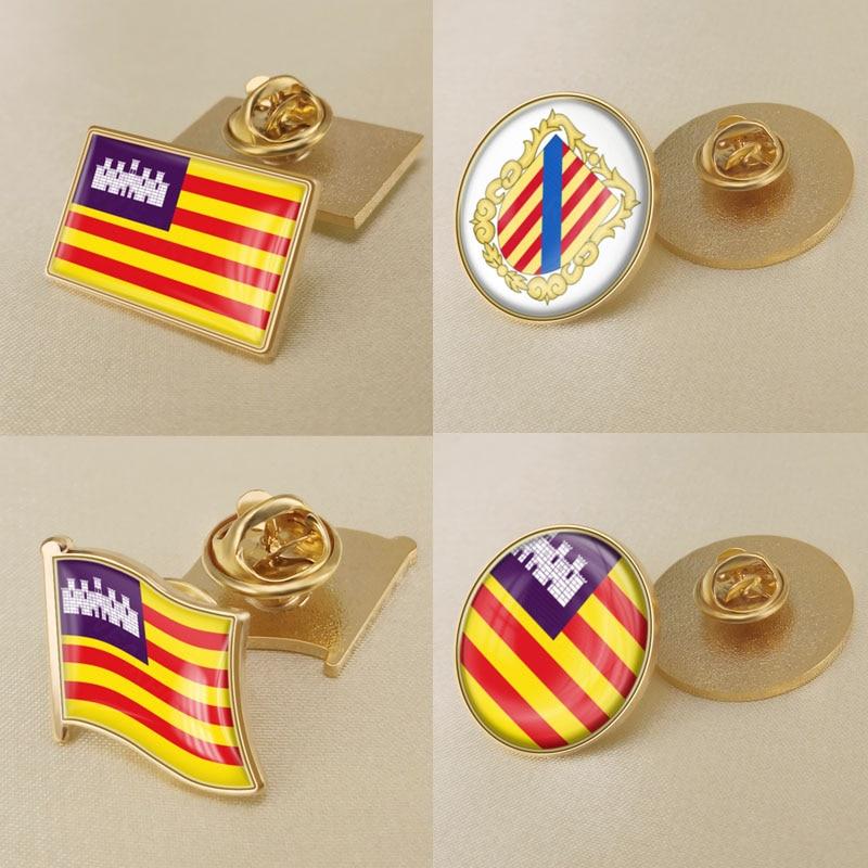 Coat of Arms of Balearic Islands Autonomous Community of Spain Flag Lapel Pins/Broochs/Badges