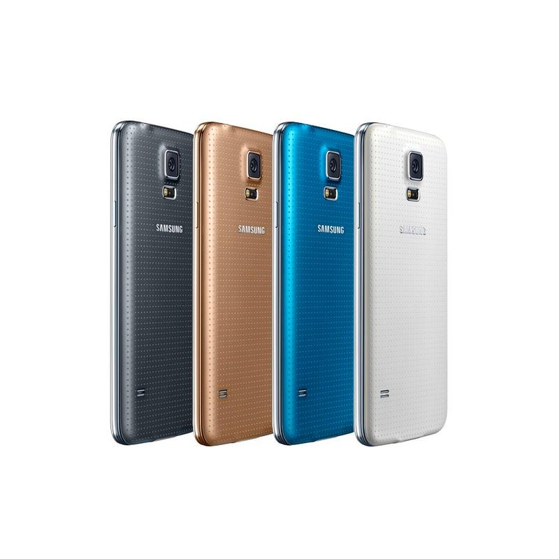Samsung-teléfono inteligente Galaxy S5 G900F, móvil con cámara Quad Core, reconocimiento de...