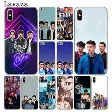 Lavaza pop Nick Jonas Brothers Hard Telefoon Case voor iPhone XR XS X 11 Pro Max 10 7 8 6 6S 5 5S SE 4 4S 4 Cover