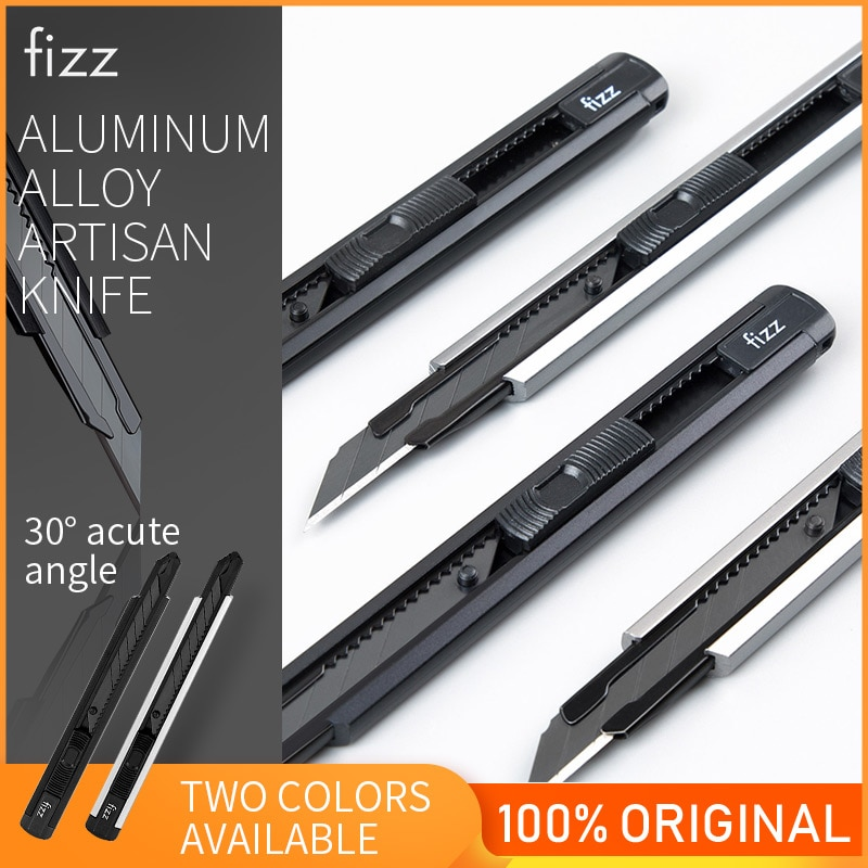 Fizz Aluminum Alloy Utility Knife Art Knife Paper Cutter Metal Blade Self-Locking Design Angle With Fracture Cutter