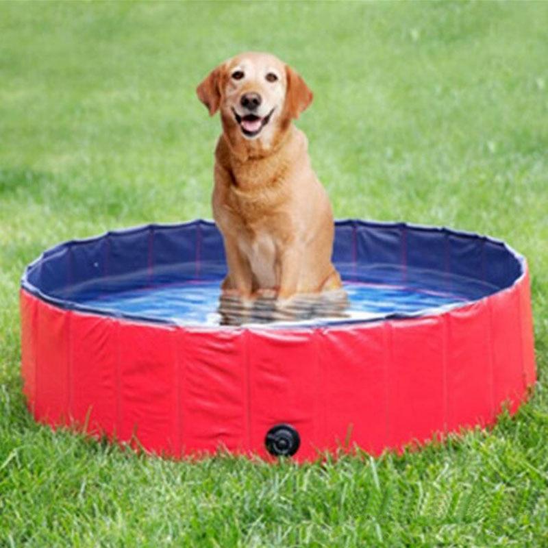 Perro piscina de PVC para mascotas bañera de baño cachorro plegable para perros piscina para Gatos Perros bañera de limpieza suministros para mascotas