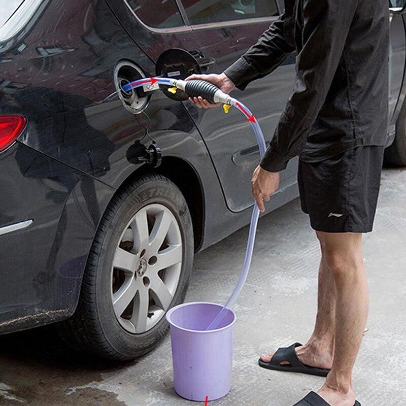 Car Fuel Tank Sucker Oil Transfer Car Fuel Pump Petrol Diesel Liquid Manual Pump